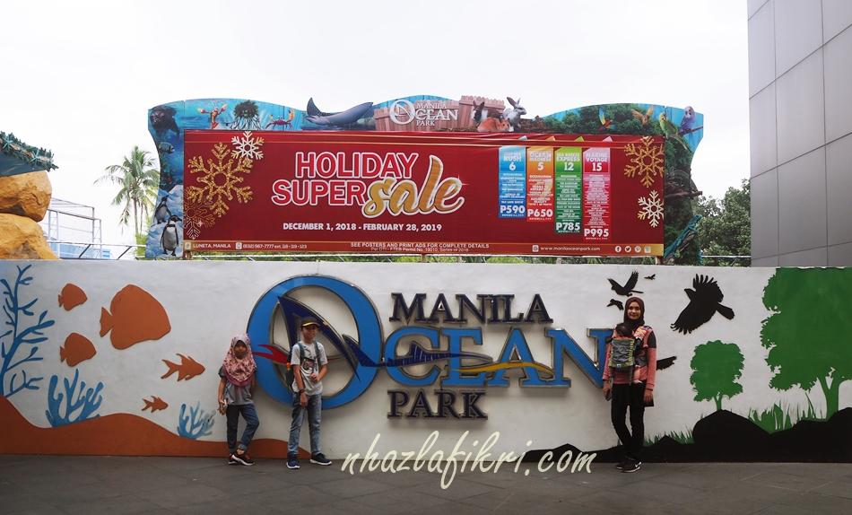 Melawat Manila Ocean Park bersama anak-anak