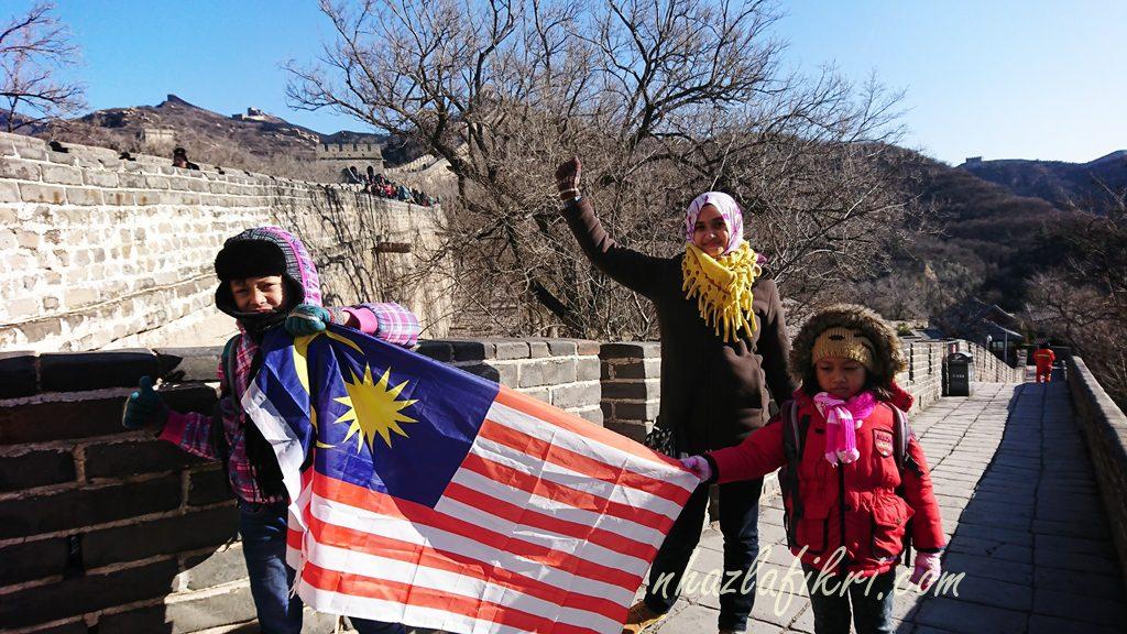 Naik bas ke Tembok Besar China #Pintu Badaling