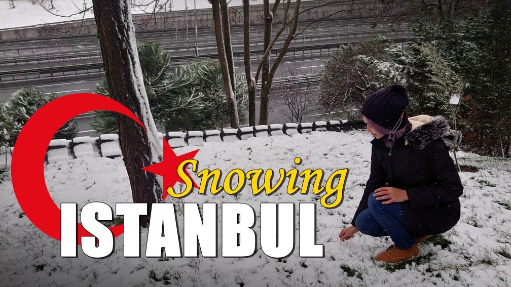 Pertama kali bermain salji – di Istanbul, Turki
